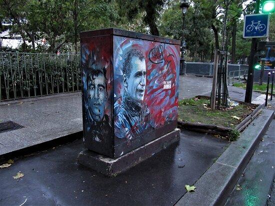 """""""Je suis Ahmed"""" - Fresque street artist C215"""