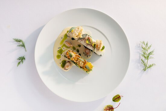 Ayrshire, UK: Assiette of Fish and local Seafood, Lemon Beurre Blanc.