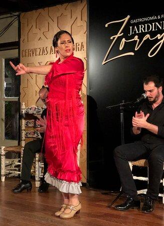 Esther Marín al baile, Sergio El Colorao al cante