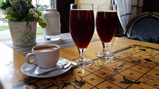 Plavinas, Letonija: Кофе, квас