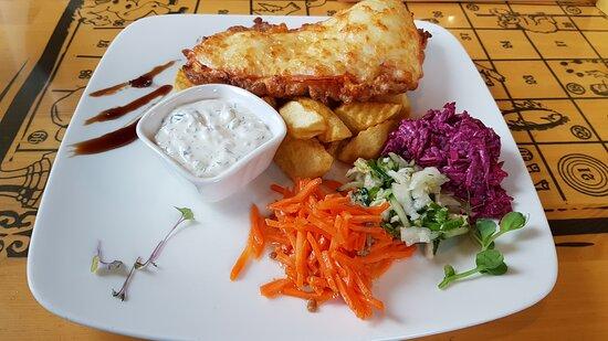 Plavinas, Latvia: Мясо по-французски с картофелем