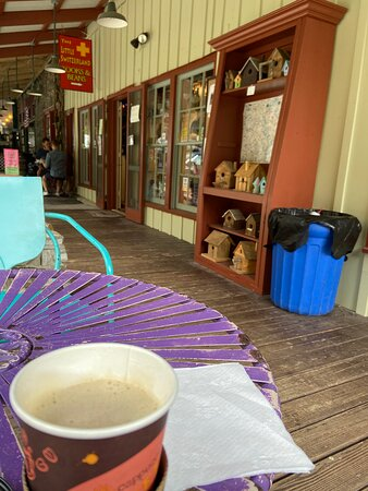 Hot drink outside