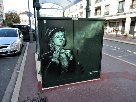 "Fresque ""marlène Diétrich"""