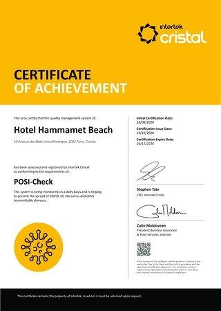 Certificat POSI CHECK