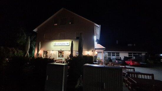 Jettingen Scheppach, Germania: Das Meteora von draußen