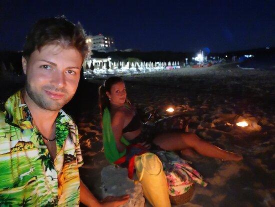 Rivabella, Italy: Serata di San Lorenzo in spiaggia, il top