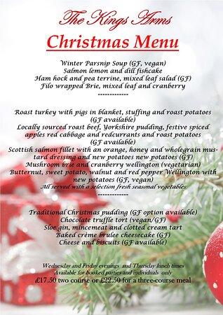 Thornford, UK: Christmas menu 2020