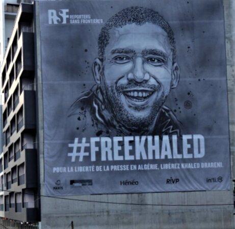 """Fresque """"free Khaled Drareni"""""""