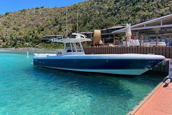 St Thomas Full-Day Boat Rental 37' Intrepid Powerboat