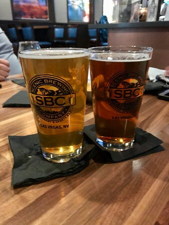 Brewery logo on glasses