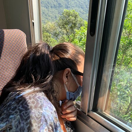 Passeio de trem de Curitiba a Morretes que deve ser feito por quem gosta de admirar a natureza e não tem problema em passar horas no trem que vai bem lentamente. A vista é impressionante. Fiz o passeio em um lindo dia de sol. Valeu muito