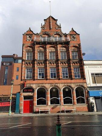 The Masonic Building along Berry Street.