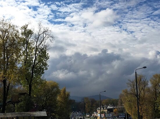 Bielsko-Biala, Poland: End of October 2020 with cloudy sky