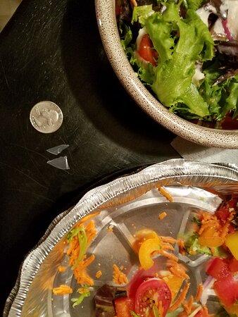 Sebago, ME: Pieces of plastic found in salad.
