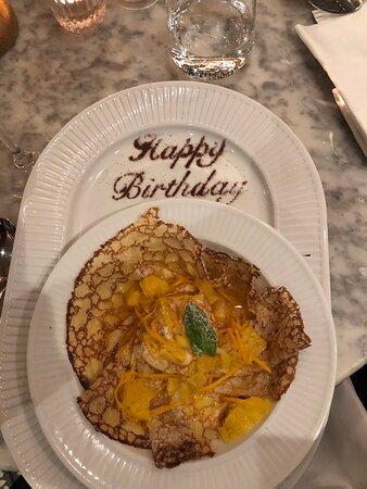 Great birthday dinner!