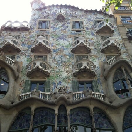 BARCELONA - Unbelievable. This magnificent example of art nouveau architecture had to close its doors, on last 29th of October,  due to the vandalism of some strikers! - projected by Antonio Gaudí