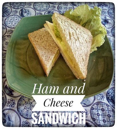 Ham and Cheese Sandwich with mustard mayonaise dressing.