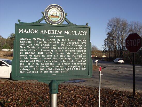 Major Andrew McClary Marker