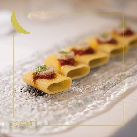 Paccheri del Cavalier Cocco al ragù di aragostella tartufata in osmosi