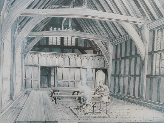 Old Bolingbroke, UK: Detail Picture of What The Great Hall at Bolingbroke Castle Would Have Looked Like At The Time