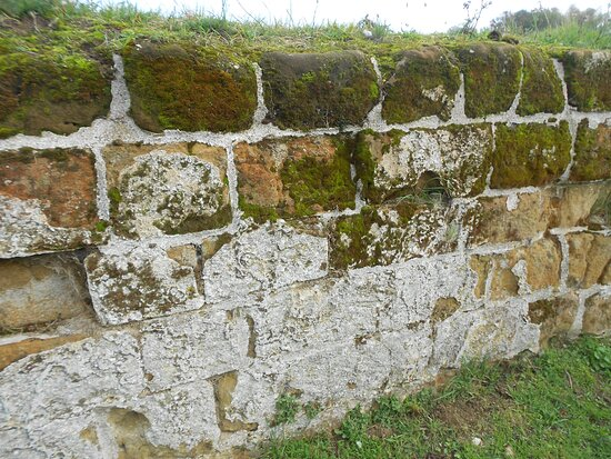 Old Bolingbroke, UK: Remains Of The Original Lime Wash Can Still Be Found On The Walls of Bolingbroke Castle