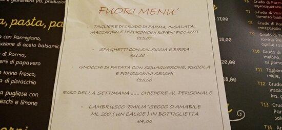 i fuori menu