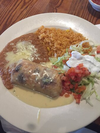 Chicken Chimichanga.   Tasty and filling.