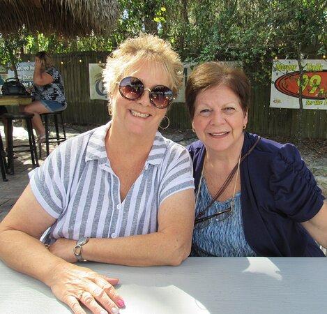 Janis & Angie...enjoying Florida's perfect weather