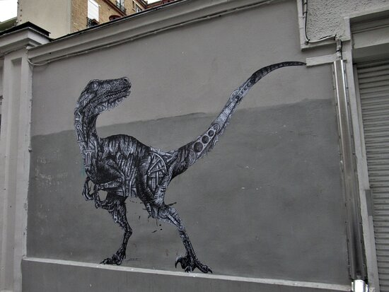 "Fresque ""le Dinosaure"""