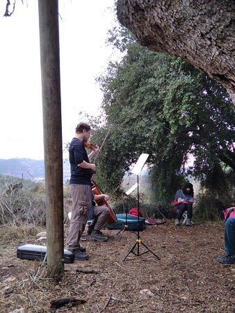 חוויה מדהימה! טיול, טבע, הדרכה ומוזיקה מהפנטת - ידידיה בכינור ודניאל על הצ'לו. פשוט כיף! אחלה רעיון ואחלה ביצוע