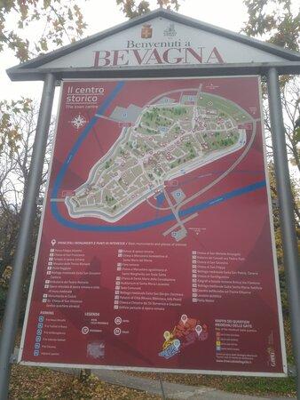 Bevagna Mappa centro Storico