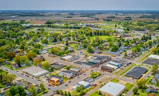 Over the Walkerton community from the air.