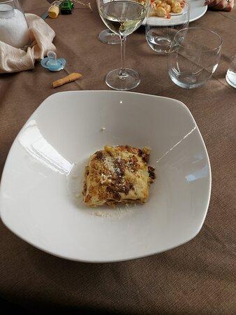 lasagnette al ragù di corte e porcini