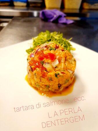 Dentergem, เบลเยียม: Tartara all salmone