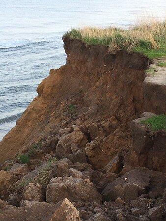 Happisburgh, UK: Coastal erosion