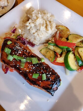 Fresh fish of the day grilled Asian bbq style.