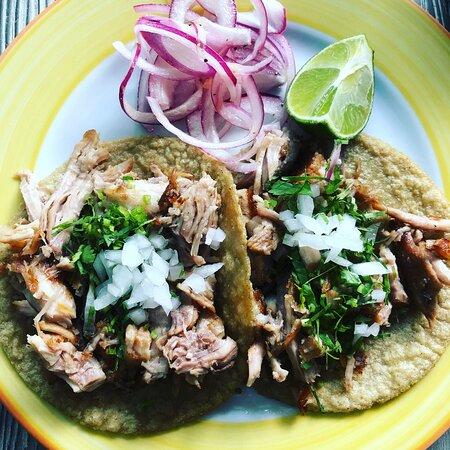 "Fried pork ""carnitas"" tacos ...to die for!"