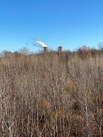 The Perry nuclear power plant in the distance - Mid-November