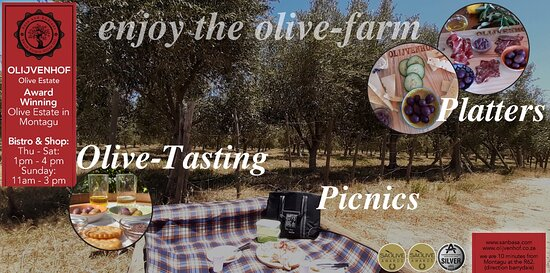 มอนตากู, แอฟริกาใต้: Enjoy the Olive-Farm with a Olive-Tasting, Platters (Chees- and Mixed) or picnic under olive-trees