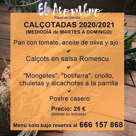 Nuestra oferta gastronómica de invierno ¡LA CALÇOTADA!...Vienes?