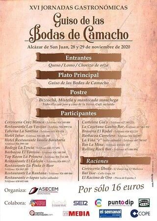 Especial menú  Guiso de las Bodas de  Camacho para el fin de semana del 28 y 29 de noviembre
