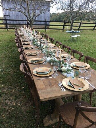 Rockfield, เคนตั๊กกี้: Wedding reception setup