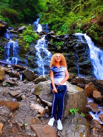 Rakhiv, Ukrajina: Водопад Труфанец на трассе Яремче-Рахов