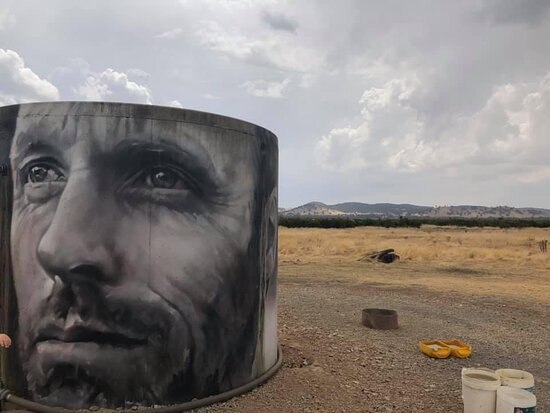 Winton Wetlands Water Tank Art