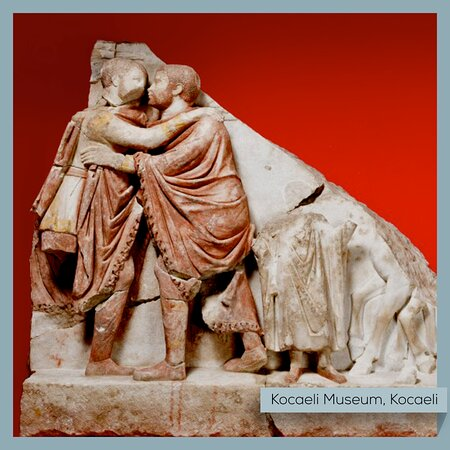 Kocaeli Province, Turkey: Us when the pandemic is finally over.  (Embracing emperors relief, Kocaeli Museum)  #Turkey #Kocaeli #Museum #MemeOfTheDay #MuseumFromHome