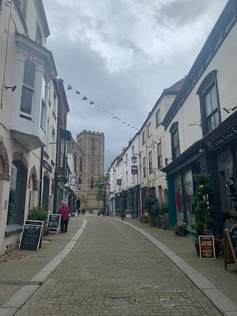 Ripon Cathedral  and city centre,  North Yorkshire