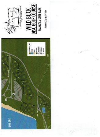 Evangola State Park: disc golf map
