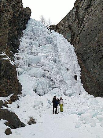 Altai Republic.  Ulagan region.  Jol Oozy waterfall.