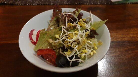 Nordstemmen, Γερμανία: Kleiner Beilagensalat mit hausgemachtem, hervorragend schmeckendem Dressing knackig frisch
