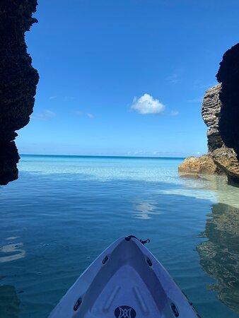 Kayaking in paradise